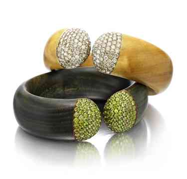 A-Pair-of-Multi-gem-Diamond-and-Wood-Cuff-Bracelets-by-Hemmerle