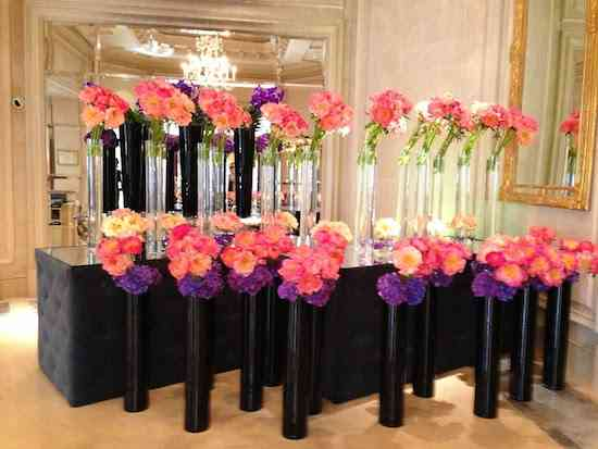 flowers in Paris Four Seasons lobby