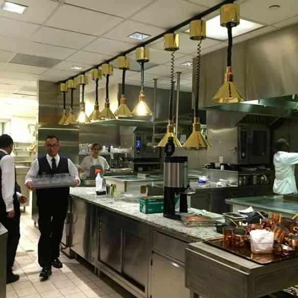 A espetacular cozinha!