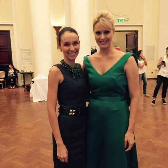 As lindas Maria Mendes e Georgia Wortmann no desfile do Copa!