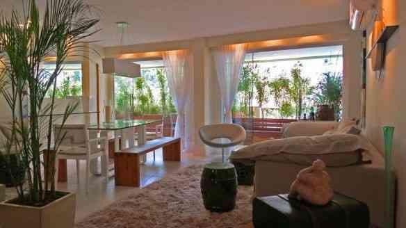 A confortável sala…