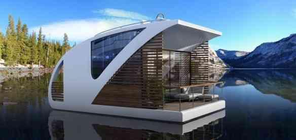 Encantada com esta idéia maravilhosa de hotel flutuante: vejam que visual!