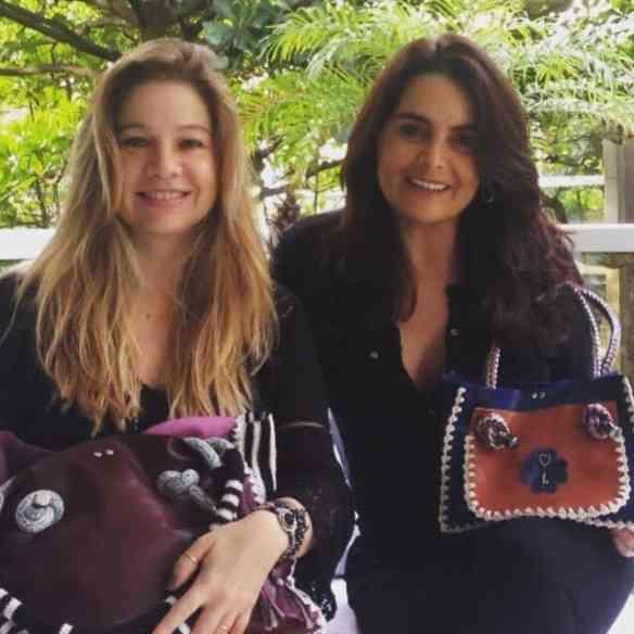 "A dupla maravilhosa que concebeu as ""Lucky Bags"": Alessandra Curvelo e Kátia Ammon, lindas e competentes!"