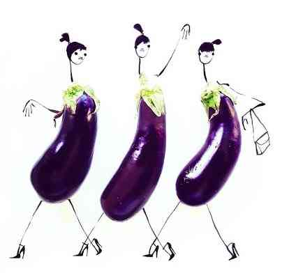 Beringelas fashion week!