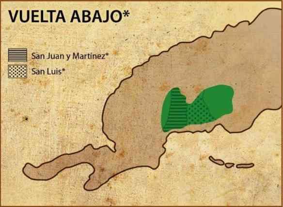 """Esta mancha verde chama-se Vuelta Abajo e é a """"Cote d'Or dos charutos!"""
