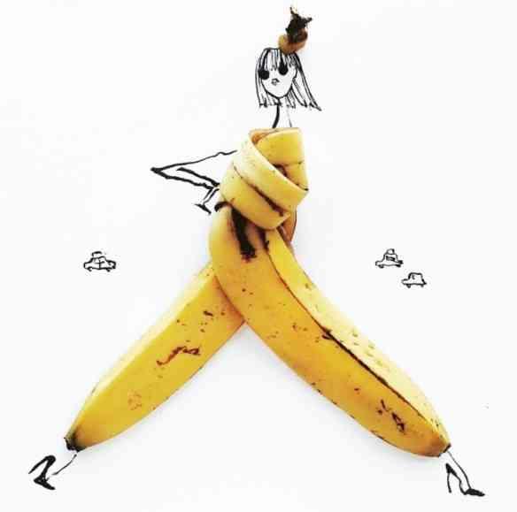 Passando para a barraca de frutas, esta banana macacão é mara!