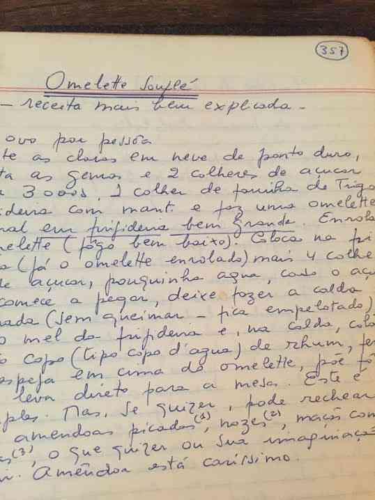 """... Omelete suflê, que provavelmente frequentou o """"Jardim das Delícias""""..."""