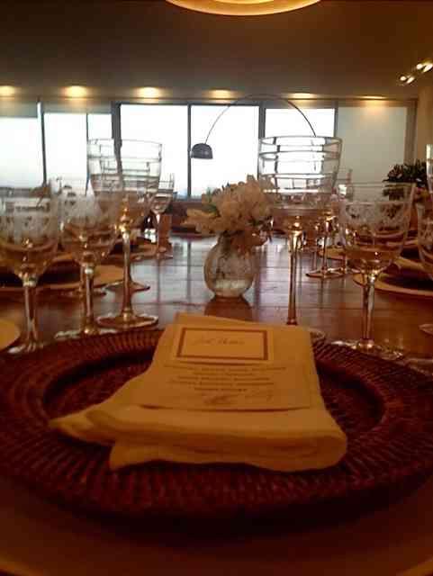 A mesa linda, de outro ângulo!