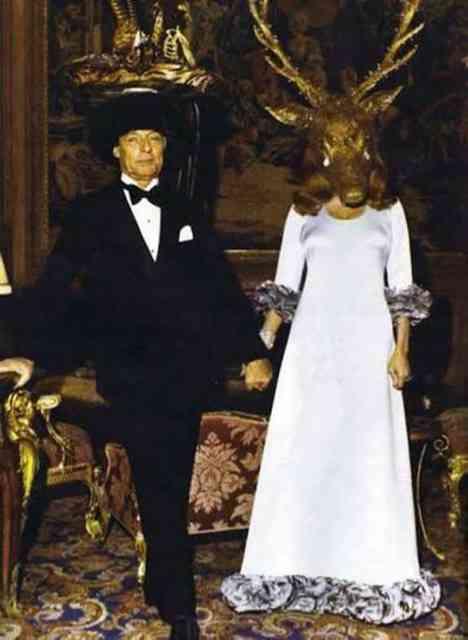 Os barões de Rothschild, Guy e Marie-Helène em seu baile surrealista...