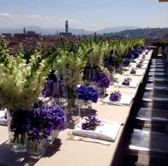 """Linda arrumação de um """"Bar Mitzvah"""" no Westin Palace, de Florença"""