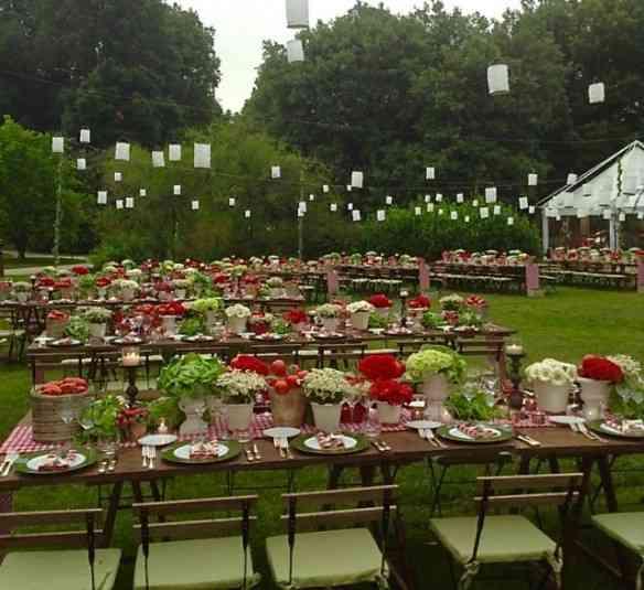 Simples e linda esta decoração de um casamento inspirado numa... horta! Dá até pra copiar!