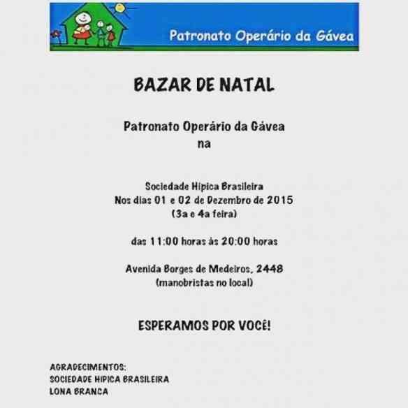 """Meu natal começa com o divino bazar do """"Patronato da Gávea""""... Estão todos convidados!"""