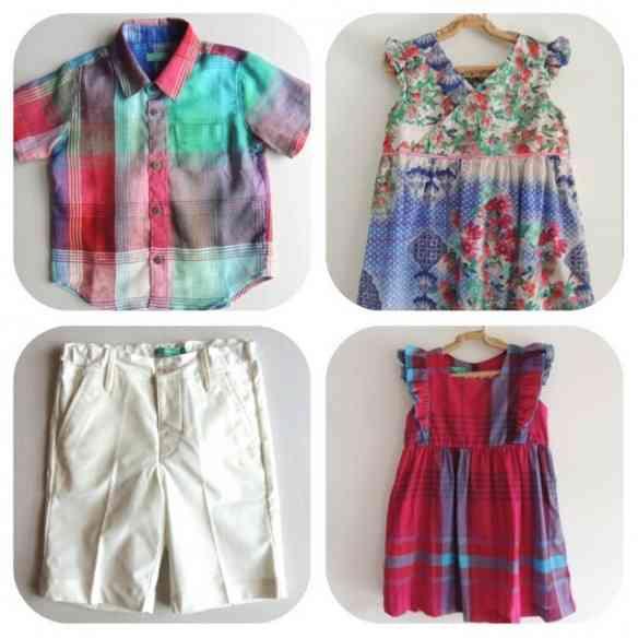 No bazar tem roupa de criança deslumbrantes, como mostram as fotos!