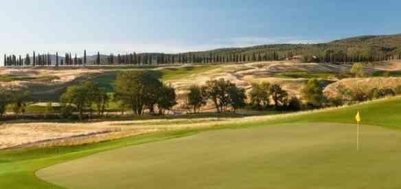 O campo de golf...