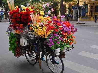 De bicicleta...
