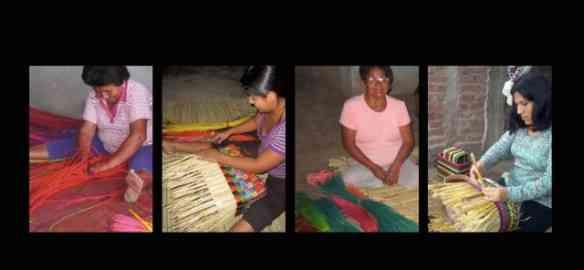 Artesãs peruanas em ação...