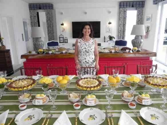 A linda aniversariante Carla Mascarin e sua mesa inspirada na Sicilia: amei!