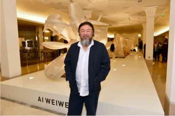 Ai Weiwei na inauguração de sua exposição