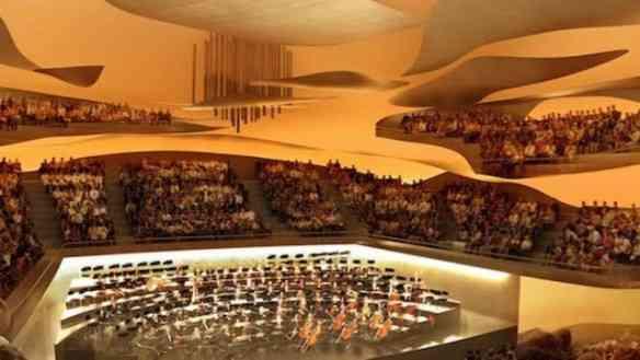 A sala de concerto deslumbrante!