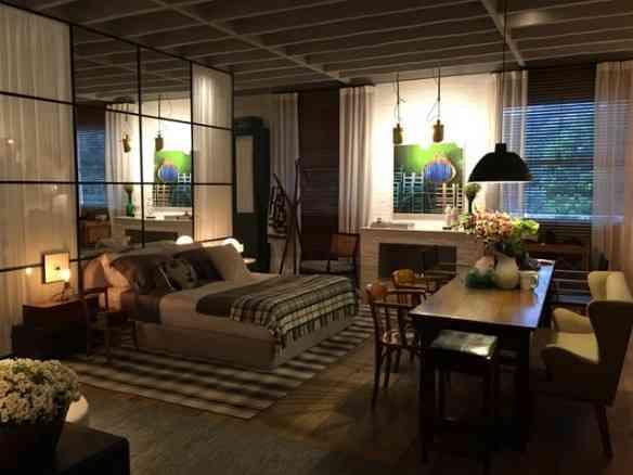 O loft da craque Paola Ribeiro aproveita divinamente o espaço, com muito aconchego e praticidade!