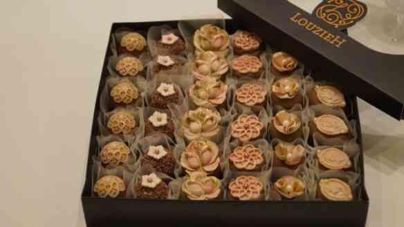 """As caixas de docinhos deliciosos da """"LOUZIEH DOCES"""" mais parecem de jóias, tal o capricho e beleza!"""