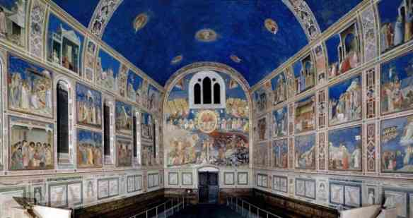 Beleza estarrecedora: este é o azul Giotto... Michelangelo bebeu desta fonte antes de pintar sua Capela Sistina!