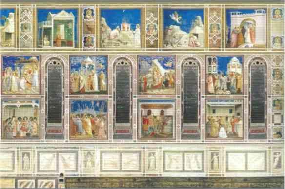 A beleza das sequências dos afrescos de Giotto!