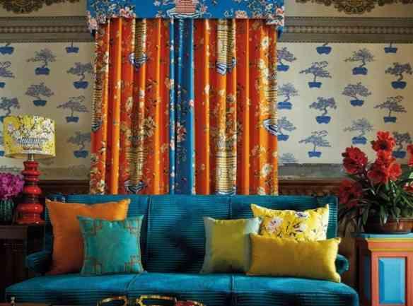 Uma casa produzida com tecidos Jim Thompson: alto astral!