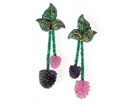 Raspberries-earrings