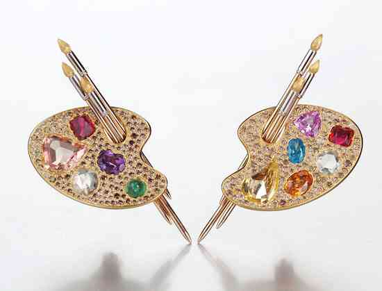 SUZANNE SYZ Painter's Palette earrings