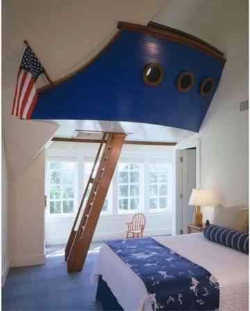 Começo com este quarto pelo qual estou inteiramente apaixonada: lindo e criativo!