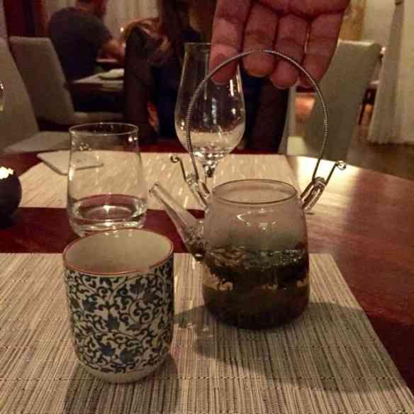 ... Meu chá, feito com mistura de 2 sabores e muita originalidade: amei!