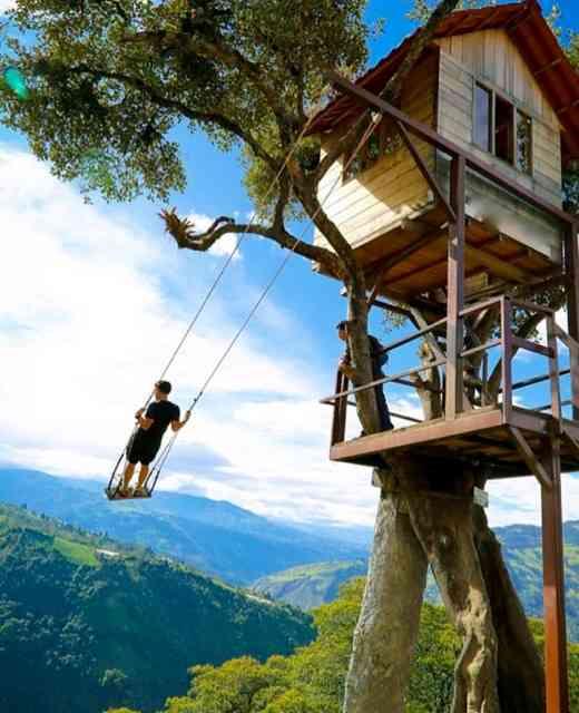"""Esta é uma típica """"mansão"""" nas árvores, igual à dos nossos sonhos infantis: Tarzan aprovaria!"""