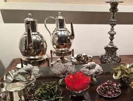 Ingredientes para chá, lindamente apresentados...