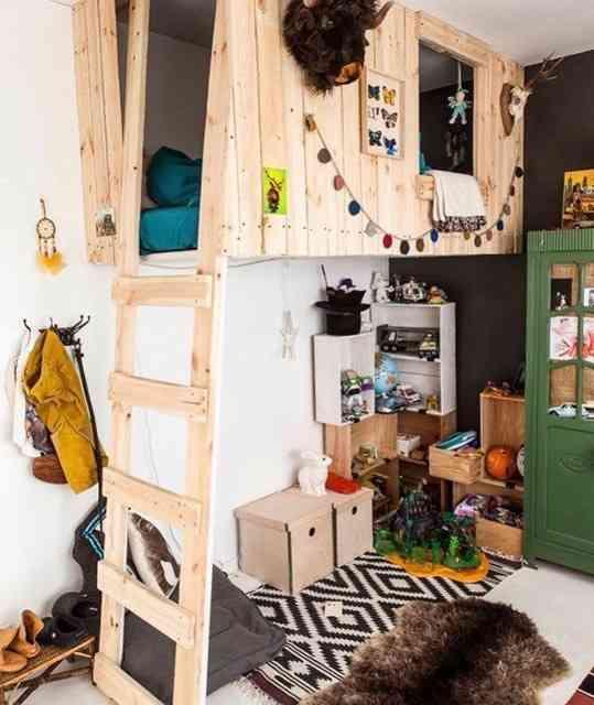 """Muito bonitinho este aconchegante quarto com inspiração """"boho""""..."""