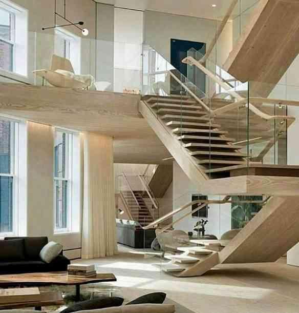 Modernidade reforçada pela beleza das escadas que brotam pelo ambiente...