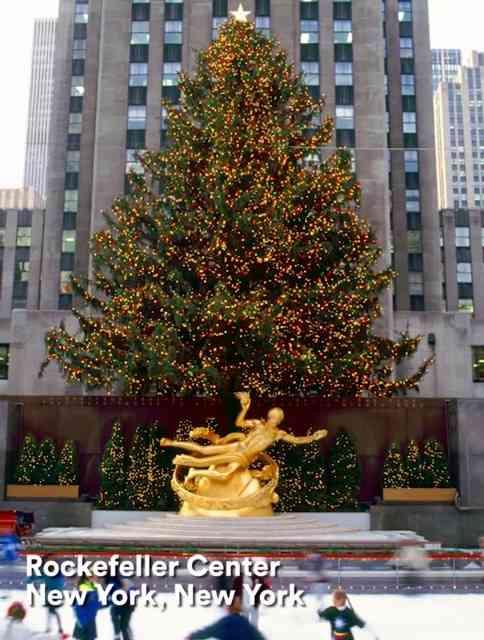 Quem chega em Nova York pra curtir o natal, tem obrigação de conferir a famosa árvore do Rock