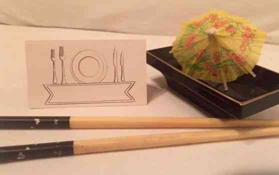 Chic para um jantar japonês...
