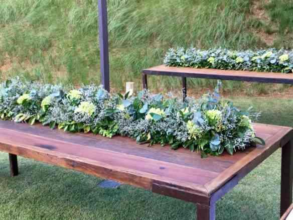 Caminho de mesa verde e lindo!