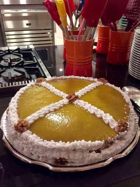 """Ou esta torta de ovos moles d'Aveiro"""", feita pela grande Marta Proto... Foi uma noite inesquecível!"""