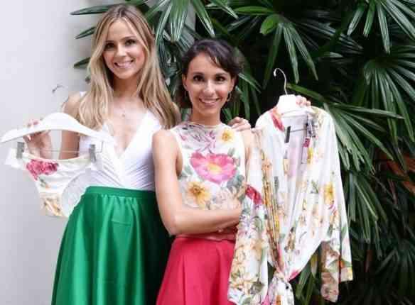 As lindas parceiras Carplina Etz e maria Mendes e a nova linha de lingerie: luxo só!