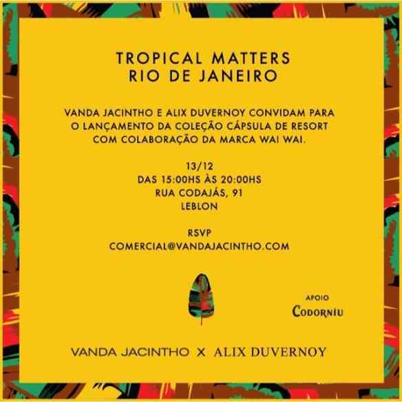 """Estão todas as cariocas convidadas para o lançamento da maravilhosa coleção """"Tropical Matters"""", das divas divinas Alix Duvernoy e Vanda Jacintho!"""